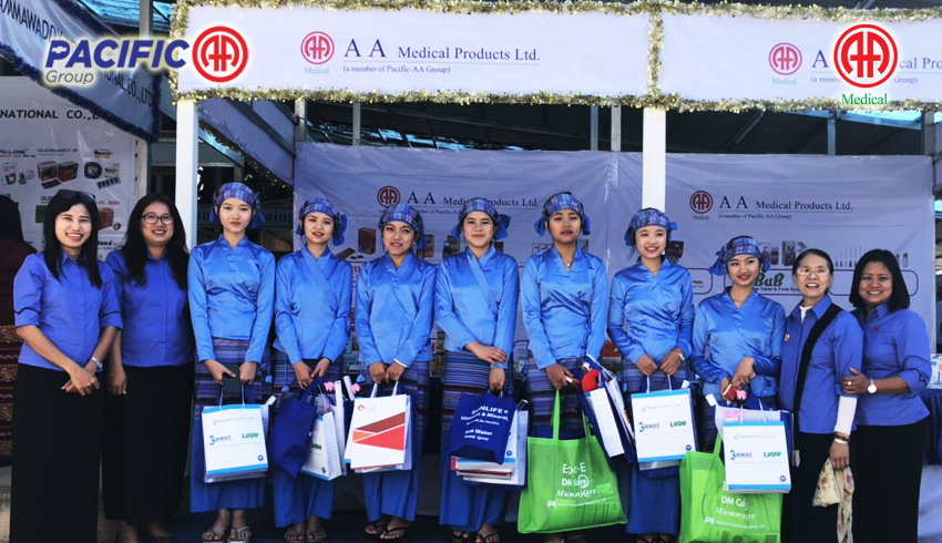 AA Medical Product Ltd , Pacific-AA Group participated as Booth Display in 19th Myanmar Medical Conference which organized by Myanmar Medical Association (Taunggyi)