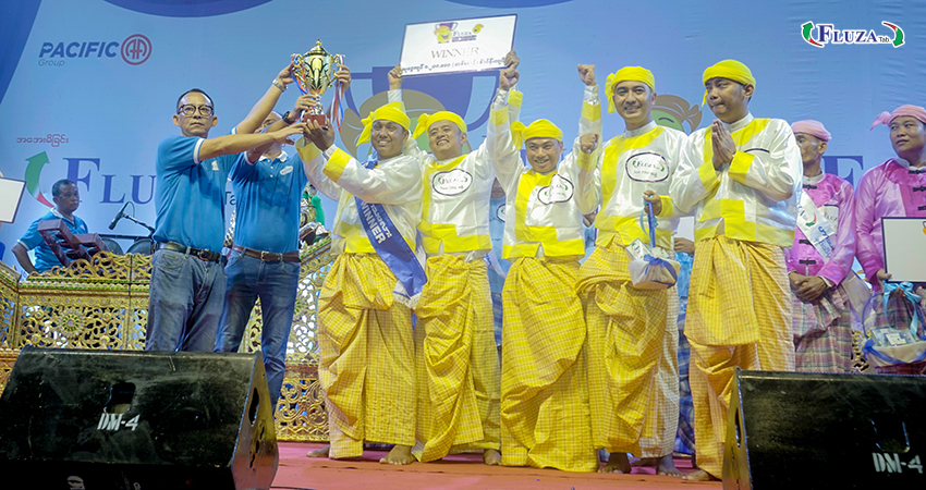 """Fluza Comedian Cup for the title named """"Protection against cold and flu by Fluza"""" was held in front of Mahar Bandoola Park, Yangon"""