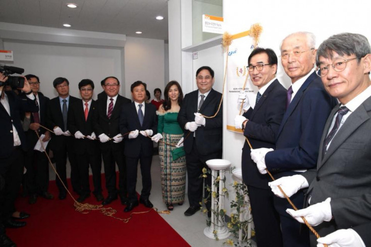 The Opening Ceremony of Chung Ang Pacific Myamar Pharmaceutical Research Center