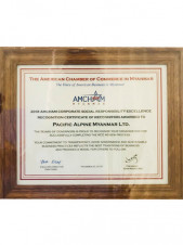 Pacific Alpine Myanmar ( Distributor of Chevrolet ) & Pacific-AA Foundation awarded the  CSR Excellence Recognition 2018