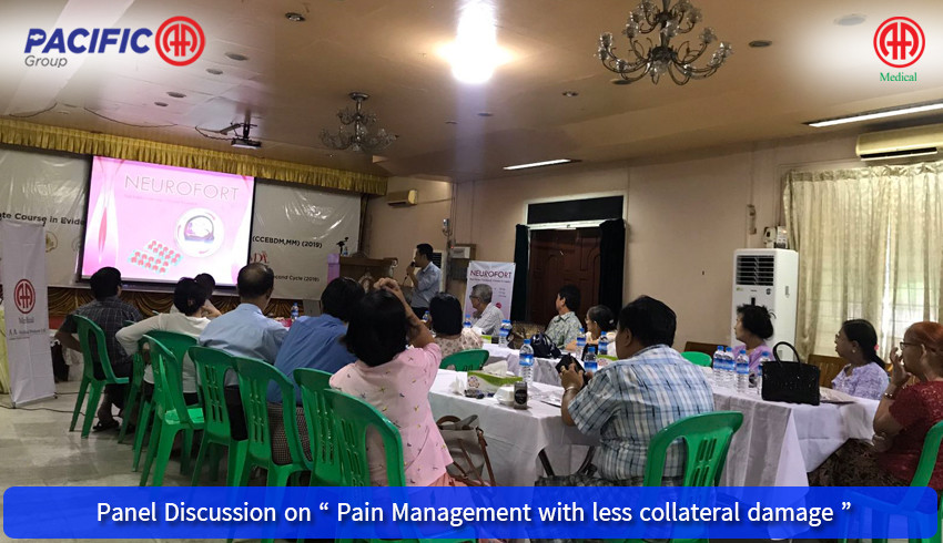 "AA Medical Products Ltd , Pacific-AA Group supported and participated the "" Panel Discussion on Pain Management with less collateral damage "" program"