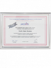 "Pacific Alpine Myanmar (a member of Pacific-AA Group) received ""2019 AMCHAM CSR Excellence (ACE) Awards"" as a 3rd time in 3 consecutive years."