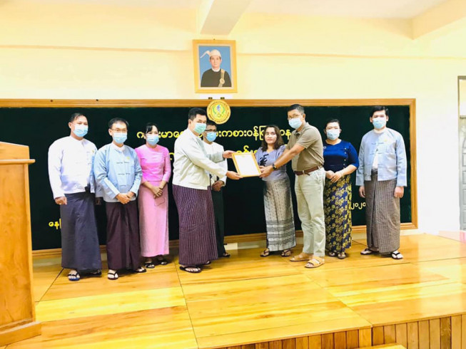 Pacific-AA Foundation donated six million kyats for 4th year , total of 24 millions kyats for scholarships