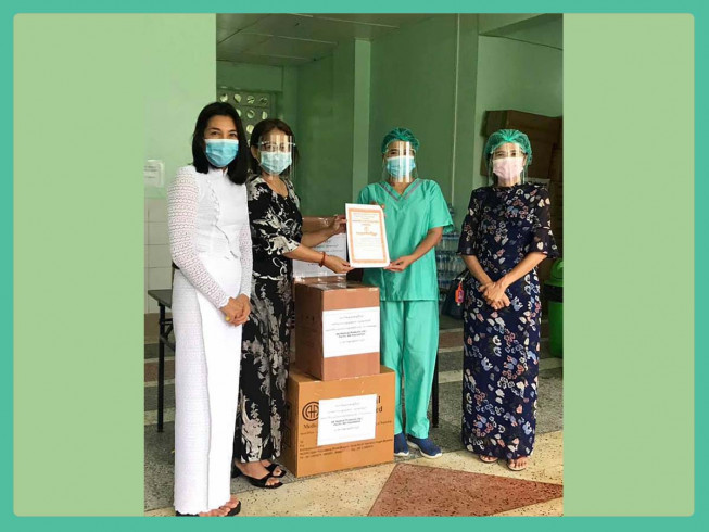 Donation of 3000 vials of injection worth 20.18 million kyats to Waybargi Hospital