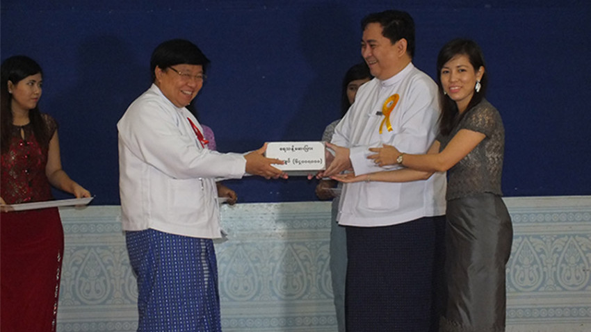 64,000,000 MMK donation of Aquatabs for water relief